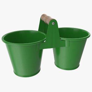 3D twin pot model