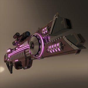 3D scifi beam rifle af-73