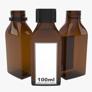 bottle 100ml type11 3D model