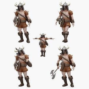 3D barbarian pose