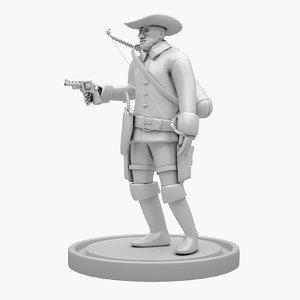 cowboy character 3D model