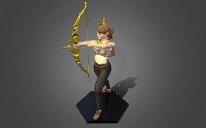 3D girl character model