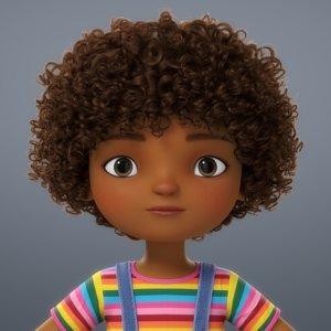 3D girl cartoon