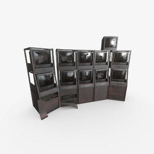 3D abandoned cctv rack