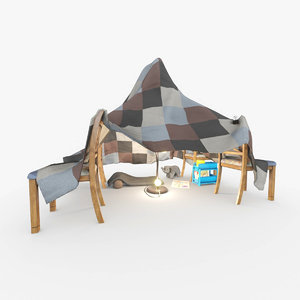 3D blanket fort chairs