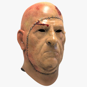 3D horror face mask