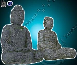 tian buddha statue 3D model