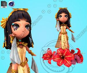 egyptian priestess rig 3D model