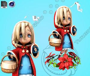 cartoon princess snow 3D model