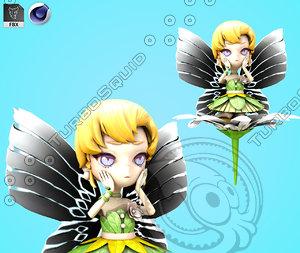 cartoon princess snow 3D