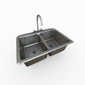 3D bowl kitchen sink
