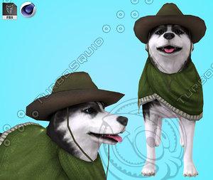 husky dog model