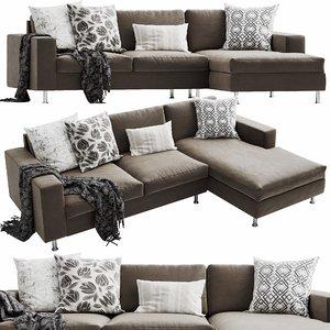 3D boconcept indivi2 chaise lounge model