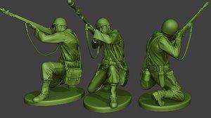 soldier ww2 m7 grenade 3D model