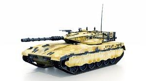 main tank merkava 3D model