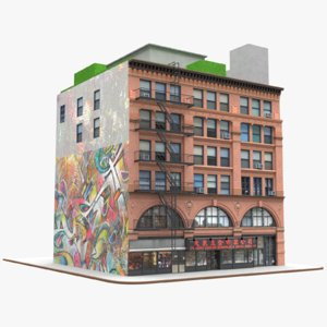 little italy manhattan corner 3D model