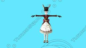 3D model characters hero mirko jessica