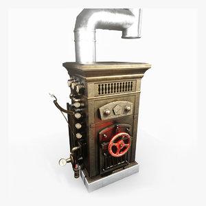 3D vintage boiler model
