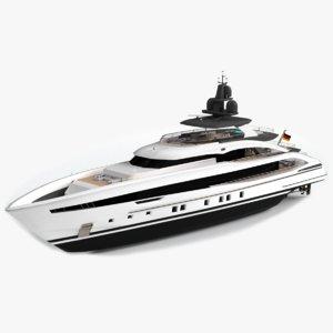 3D aquamarine luxury yacht