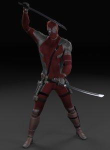 3D character deadpool superheroes