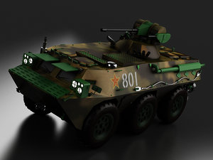 armoured fighting vehicles explosion-proof 3D model