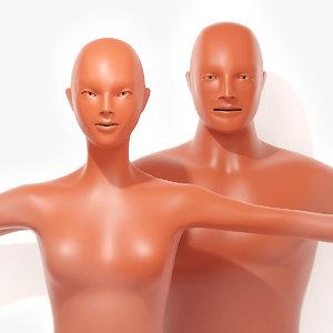 sculpting portraits male female model