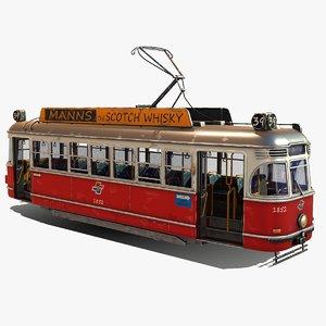 3D model stylized tram