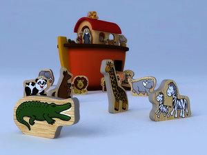 toys noah s ark 3D model