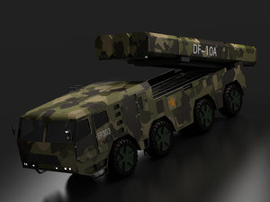 chinese second artillery long 3D model