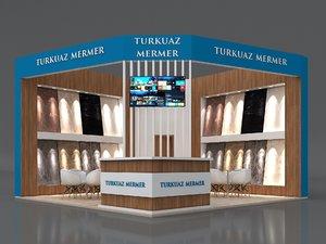 stall 6x6m height 400 model