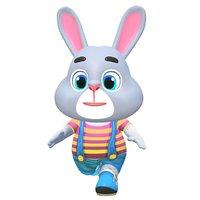 Rabbit Bunny Hare Animated Rigged