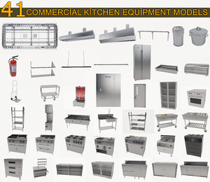 commercial kitchen equipment cooker 3D model