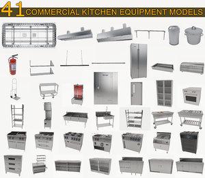 commercial kitchen equipment cooker 3D model
