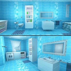 bathroom interiors baths 3D model