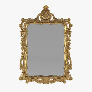 wall mirror baroque 3D