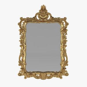 wall mirror baroque 3D