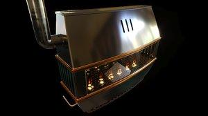 vintage large petroleum heater 3D
