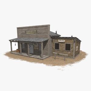 3D western sheriff office model