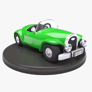 3D cartoon toy classic car model