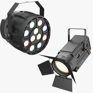 3D model real stage lights