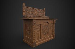 medieval altar 3D model