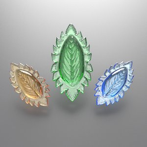 leaf gemstone model