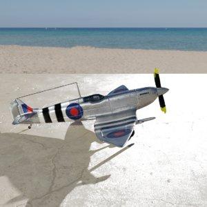 spitfire hf mk vii 3D model