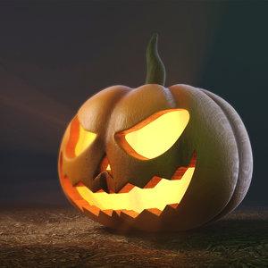 pumpkin modeled 3D model