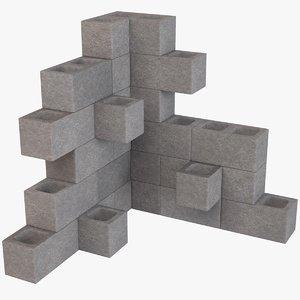 diy cinder block model