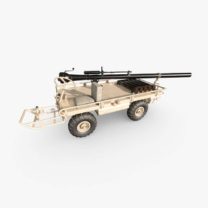 3D platform truck model