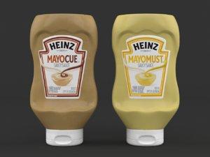 heinz mayomust mayonnaise 3D model