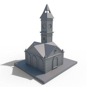 clock tower kayseri 3D model