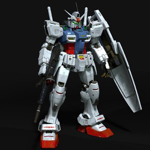 old style gundam rx-78 model