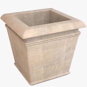 3D decorative pot model